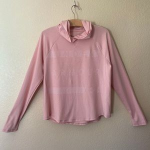 Under Armour pink pin dot pullover hooded hoodie